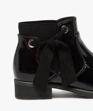 Boots fille unis tige vernie et ruban décoratif vue6 - Nikesneakers (ENFANT) - Nikesneakers