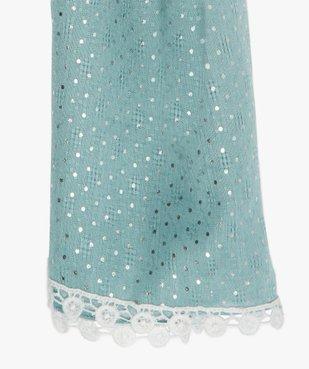 Foulard fille texturé à pois argentés vue2 - Nikesneakers (ENFANT) - Nikesneakers
