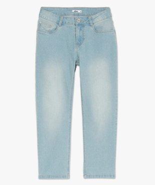 Pantacourt femme en jean délavé 5 poches et taille normale vue4 - GEMO C4G FEMME - GEMO