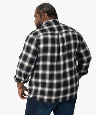 Chemise homme en flanelle à carreaux vue3 - GEMO (HOMME) - GEMO