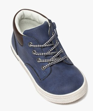 Boots garçon à col contrastant fermeture lacets et zip  vue5 - GEMO (ENFANT) - GEMO