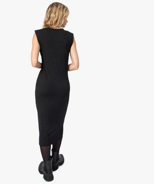 Robe femme en maille côtelée avec épaulettes vue4 - GEMO(FEMME PAP) - GEMO