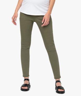 Pantalon de grossesse coupe slim avec bandeau  vue1 - GEMO (MATER) - GEMO