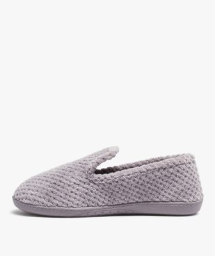 Chaussons femme forme charentaise - Isotoner vue3 - ISOTONER - GEMO