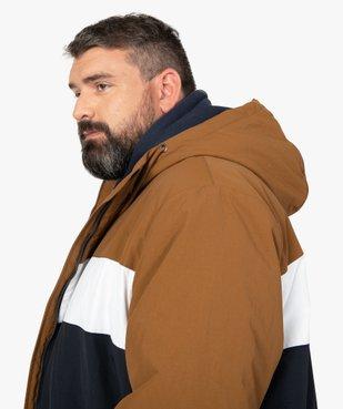 Blouson homme tricolore avec capuche vue6 - GEMO (G TAILLE) - GEMO