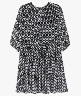 Robe femme imprimée fermeture boutonnée vue4 - GEMO (G TAILLE) - GEMO