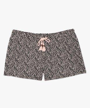 Bas de pyjama femme forme short imprimé vue4 - GEMO(HOMWR FEM) - GEMO