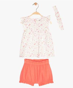 Ensemble bébé fille tunique + short + bandeau (3 pièces) vue1 - Nikesneakers (ENFANT) - Nikesneakers