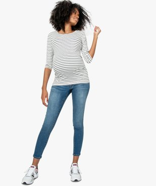 Jean de grossesse slim 4 poches avec bandeau jersey vue5 - GEMO (MATER) - GEMO
