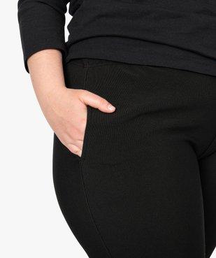 Pantalon femme carotte texturé à taille élastiquée vue2 - GEMO (G TAILLE) - GEMO