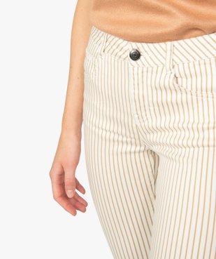 Pantalon femme coupe slim à rayures vue2 - GEMO(FEMME PAP) - GEMO