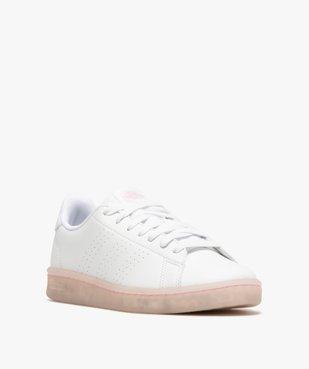 Baskets femme unies – Adidas Advantage Primegreen vue2 - ADIDAS - GEMO