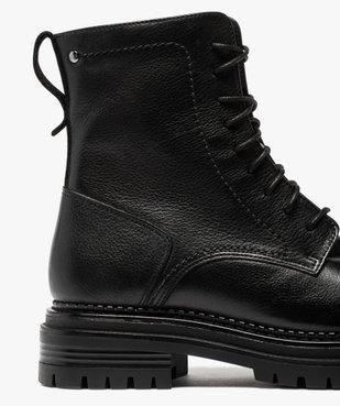 Boots femme unis style rock à lacets et semelle crantée vue6 - GEMO (CASUAL) - GEMO