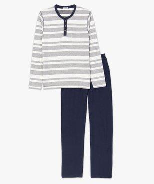 Pyjama homme 2 pièces tee-shirt et pantalon dépareillés vue4 - GEMO(HOMWR HOM) - GEMO