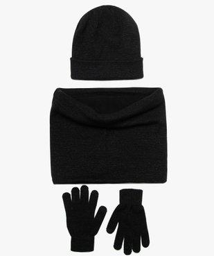 Ensemble fille (3 pièces) gants tactiles, bonnet et snood pailletés vue1 - GEMO (JUNIOR) - GEMO