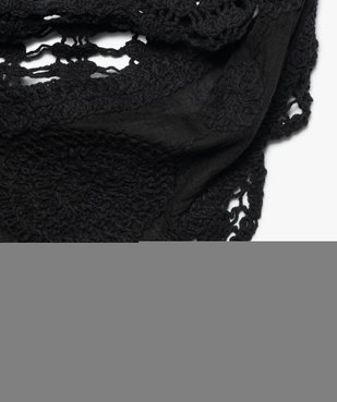 Foulard femme triangulaire en maille crochetée vue2 - Nikesneakers (ACCESS) - Nikesneakers