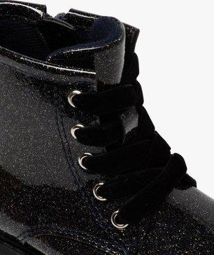 Boots bébé fille vernis et pailletés fermeture zip vue6 - GEMO(BEBE DEBT) - GEMO