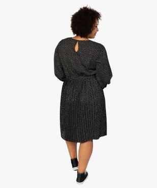 Robe femme courte plissée à manches longues vue3 - GEMO (G TAILLE) - GEMO