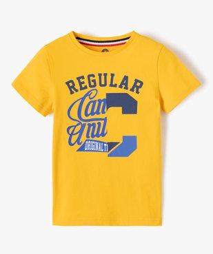 Tee-shirt garçon imprimé à manches courtes – Camps United vue1 - CAMPS UNITED - GEMO