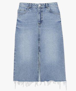 Jupe femme en jean longueur mollets – Lulu Castagnette vue4 - LULUCASTAGNETTE - GEMO