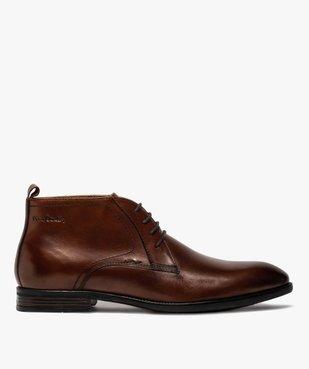 Derbies homme unis chukka boots en cuir – Pierre Cardin vue1 - PIERRE CARDIN D - GEMO