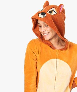 Combinaison d'intérieur femme à capuche à motif Bambi - Disney vue2 - DISNEY - GEMO