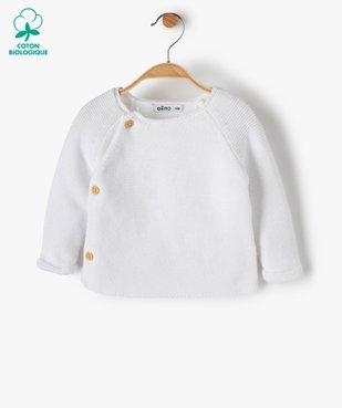 Gilet bébé fille avec fermeture boutons sur le côté vue1 - Nikesneakers(BB COUCHE) - Nikesneakers