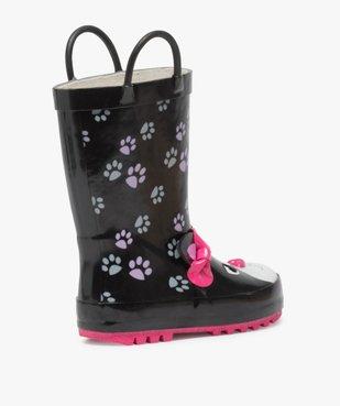 Bottes de pluie fille motif chat en relief avec anses vue4 - GEMO (ENFANT) - GEMO