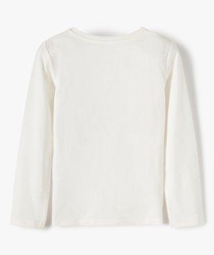 Tee-shirt fille avec motifs en sequins brodés vue4 - GEMO (ENFANT) - GEMO