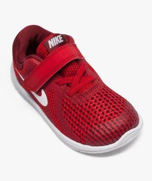 Baskets basses lacets et scratchs Nike Revolution 4 vue5 - NIKE - GEMO