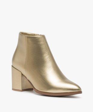 Boots femme à talon unis tige métallisée vue2 - Nikesneakers(URBAIN) - Nikesneakers