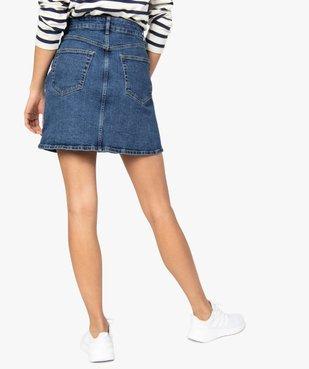 Jupe femme en jean extensible vue3 - GEMO(FEMME PAP) - GEMO