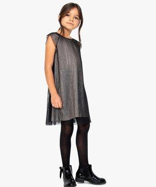 Robe de fête fille en tulle plissé et paillettes vue5 - Nikesneakers (ENFANT) - Nikesneakers