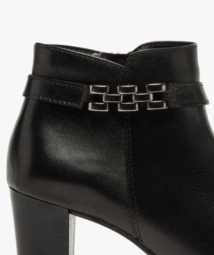 Boots femme unies à talon haut et bride décorative vue6 - GEMO(URBAIN) - GEMO
