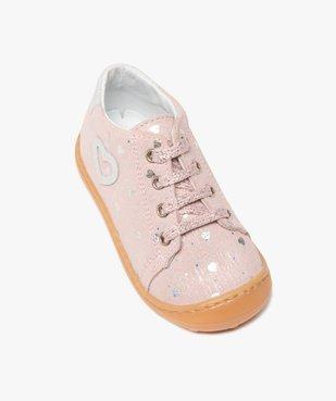 Chaussures premiers pas bébé fille en cuir vue5 - Nikesneakers(BEBE DEBT) - Nikesneakers