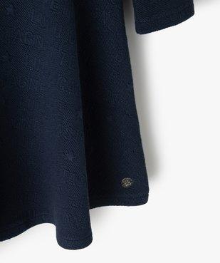 Robe fille à manches longues en maille texturée – Lulu Castagnette vue2 - LULUCASTAGNETTE - Nikesneakers