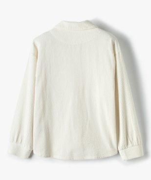 Veste fille en velours côtelé aspect chemise vue4 - GEMO (JUNIOR) - GEMO