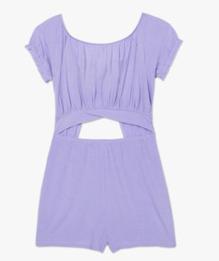 Combishort pyjama femme ouvert - Lulu Castagnette vue4 - LULUCASTAGNETTE - GEMO