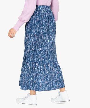 Jupe femme longue plissée à motifs vue3 - GEMO(FEMME PAP) - GEMO