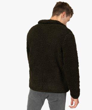Blouson homme en polaire aspect laine de mouton vue3 - Nikesneakers (HOMME) - Nikesneakers