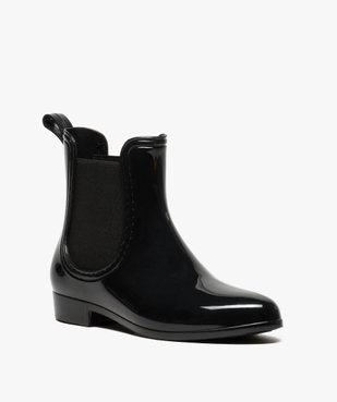 Bottes de pluie unies noires style chelsea boots vue2 - GEMO (EQUIPT) - GEMO