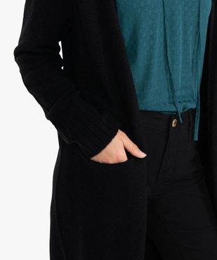 Gilet femme longueur genou à porter ouvert vue2 - GEMO(FEMME PAP) - GEMO
