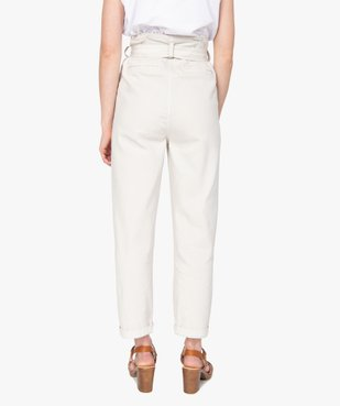 Pantalon femme taille haute - Lulu Castagnette vue3 - GEMO(FEMME PAP) - GEMO