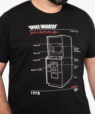 Tee-shirt homme avec motif sur l'avant – Space Invaders vue2 - SPACE INVADERS - GEMO