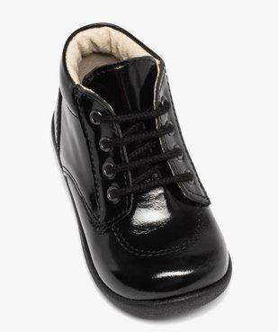 Chaussures premiers pas bébé fille à lacets dessus cuir verni vue5 - Nikesneakers(BEBE DEBT) - Nikesneakers