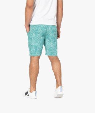 Bermuda homme motif feuillage tropical vue3 - Nikesneakers (HOMME) - Nikesneakers