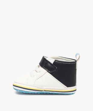 Chaussons de naissance garçon style baskets vue3 - Nikesneakers(BB COUCHE) - Nikesneakers