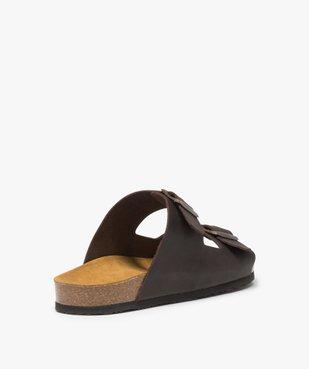 Sandales homme en cuir à larges brides à boucle vue4 - Nikesneakers (CASUAL) - Nikesneakers