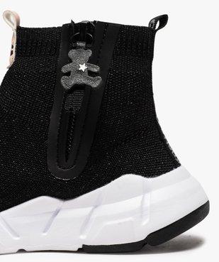 Baskets fille montantes style chaussettes - LuluCastagnette vue6 - LULU CASTAGNETT - Nikesneakers