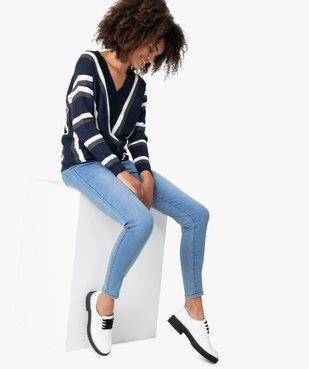 Jean femme skinny taille haute super stretch vue5 - GEMO(FEMME PAP) - GEMO